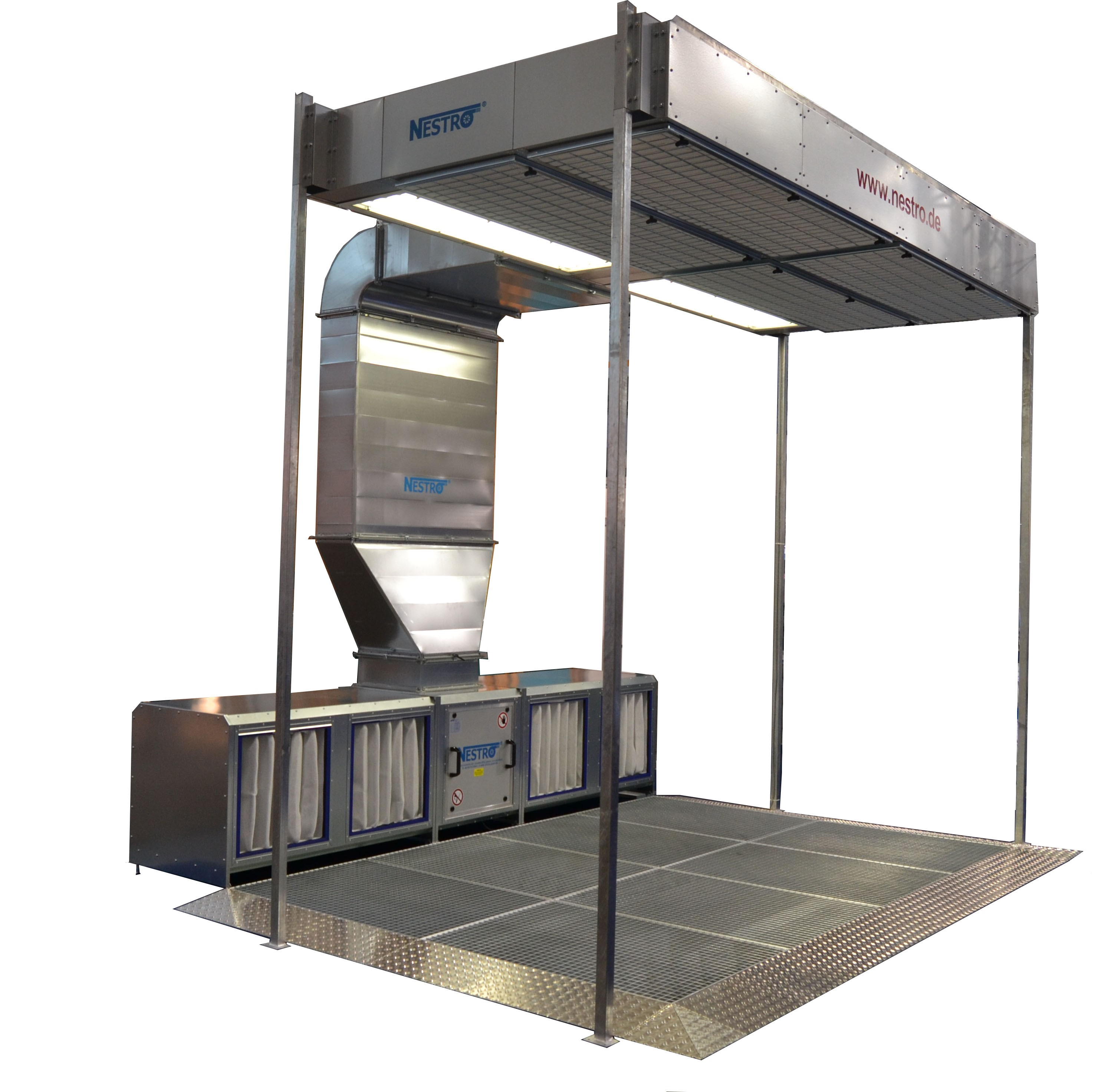 NESTRO Open Sanding Booth